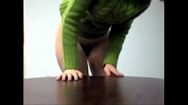 Amateur Hotwife Video for Cuckold – Office Green Sweater