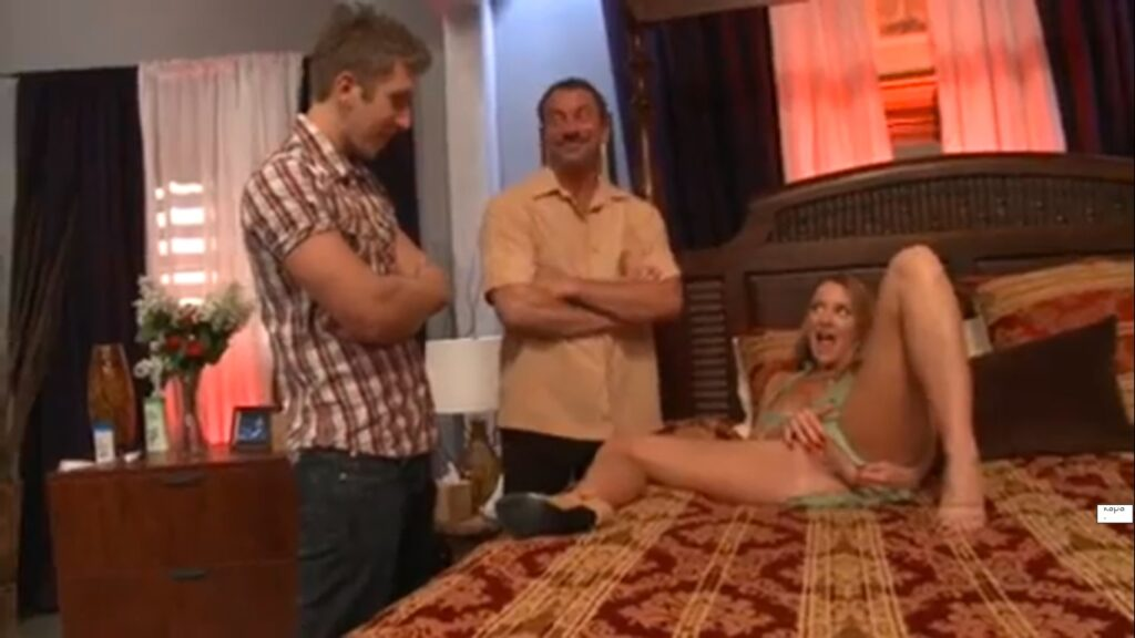 Horney Wife Threesome with Husband & Stud