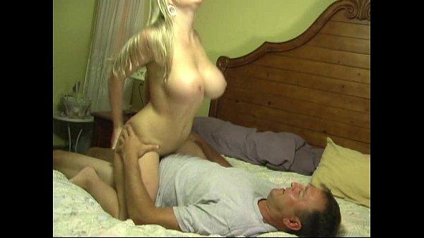 Blond Wife with Big Boobs Cuckolding Husband