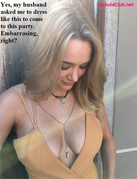 Hotwife Dress with open cleavage for party