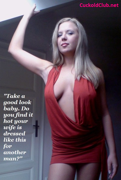 Hotwife Showing Her Cleavage Captions