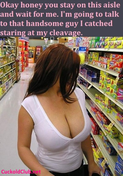 Random guy checking cleavage of wife
