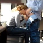 Wife Gives a Blowjob to Boss for Promotion