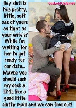 Wife's Bull wants to fuck Sissy Maid - Story