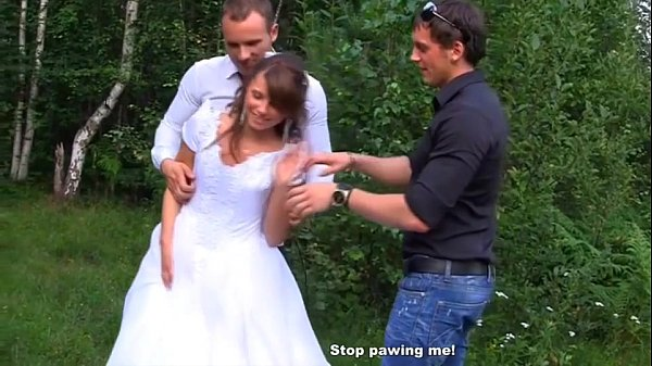 Groom Shared Bride in a Public Gangbang
