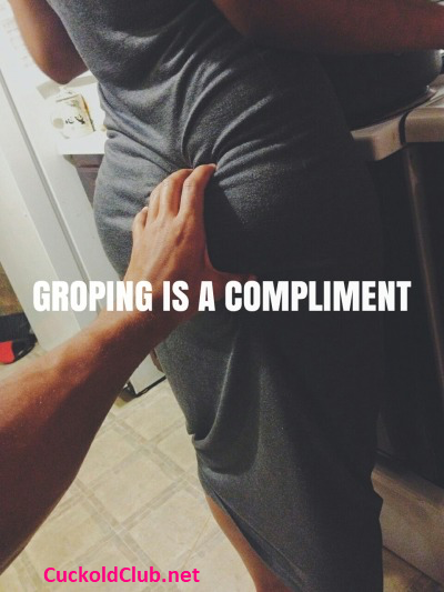 Grabbing and Fondling Hotwife's Ass Captions