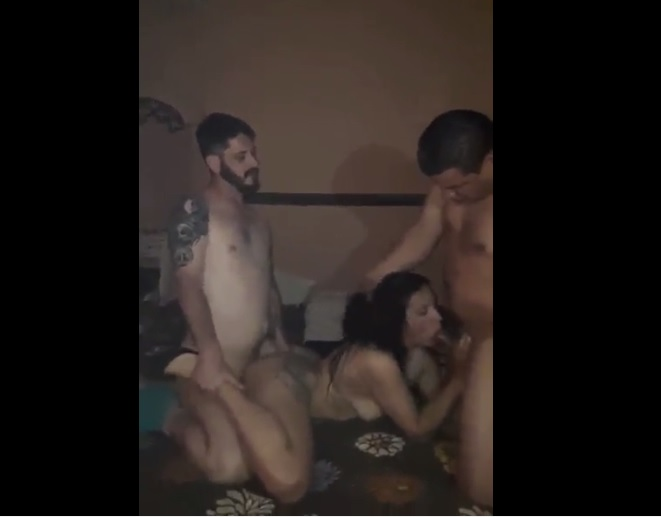 Two Guys Spitroasted Wife in Houseparty