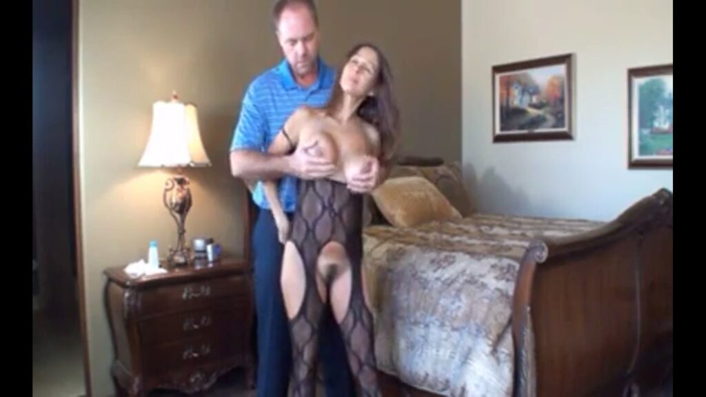Wife in Lingerie Filming for Cuckold Husband