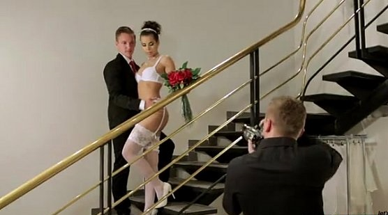 Groom Shared Bride with Photographer