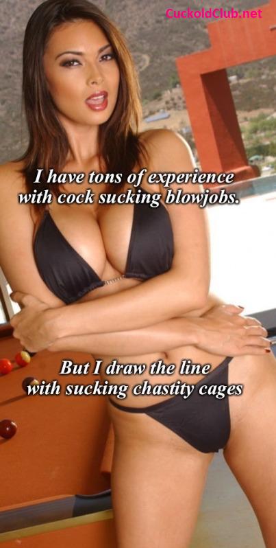 No Sucking Chastity Cage