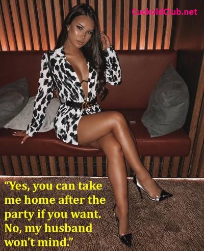 Take hotwife home afterparty caption