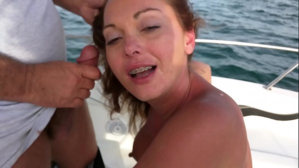 Wife giving blowjob to a friend on a yacht