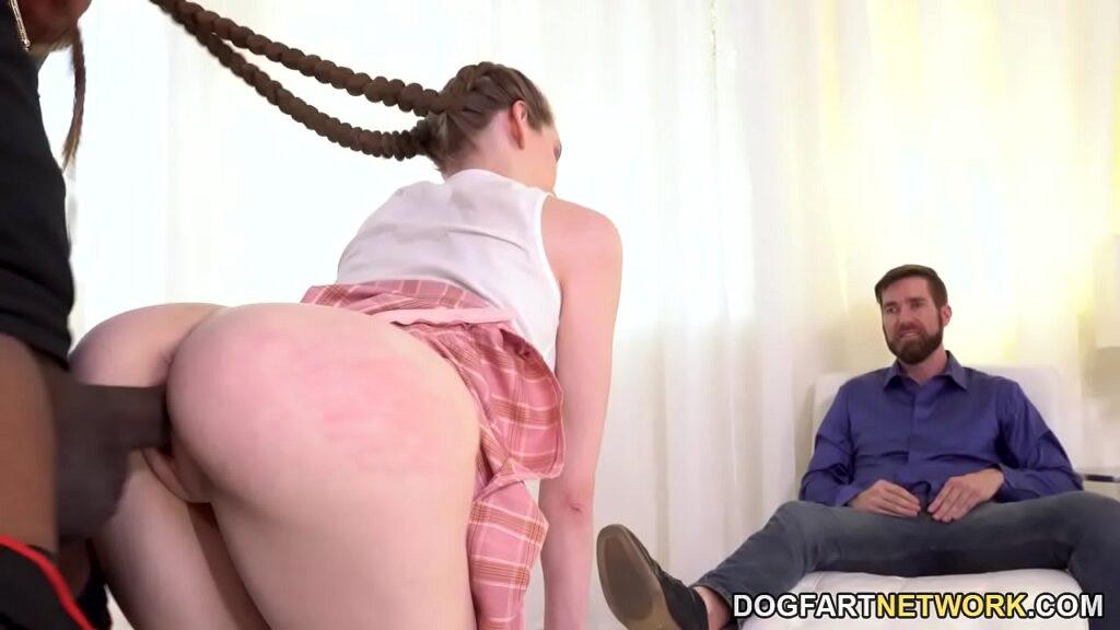 Anniversary Surprise BBC for Wife in SchoolGirl Costume