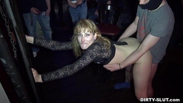 Dirty wife Nicole gangbanged by everybody at a club