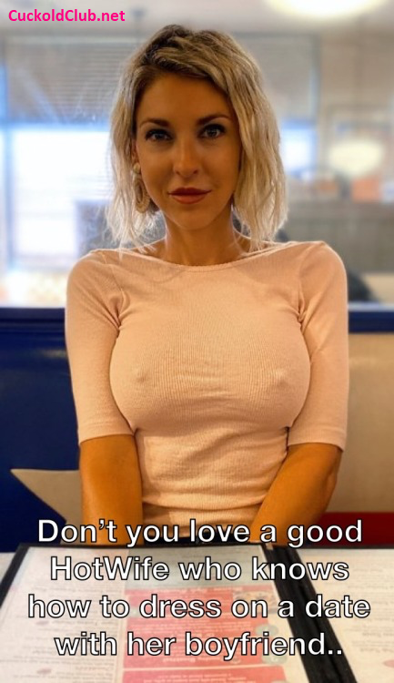 Good hotwife know that she doesn't need a bra