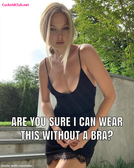 The Best Captions Of Braless Hotwife 2021: tight dress and no bra