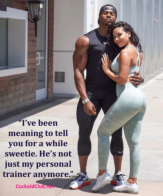 Hotwife Captions At GYM and with Her Trainers