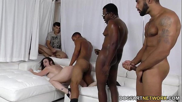 Horny Mom BBC Gangbang in front of her Cuckold Son