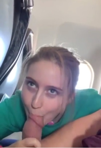 Hotwife on the plane Sucking Hubby's Friend