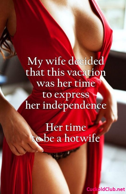 Independent Hotwife with sexy red dress
