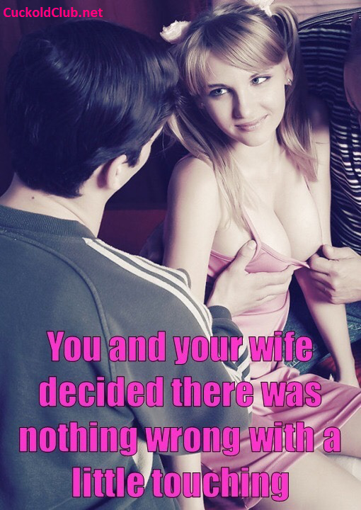 nothing wrong with touching hotwife breasts