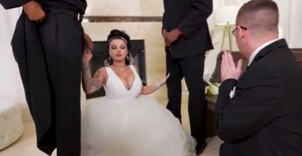 Dominant Wife Cuckolds Husband on Wedding Day