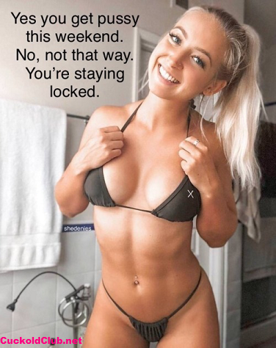 Getting pussy in chastity