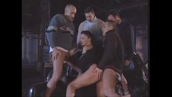 A Group of Men Fuck Hotwife in the Alley