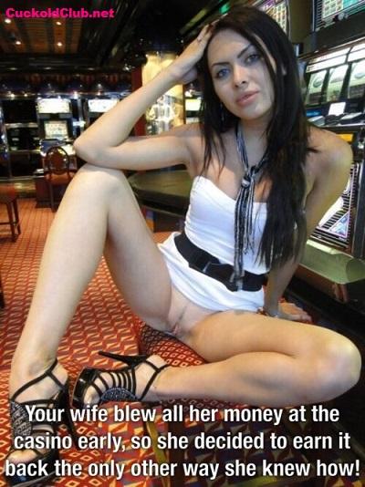 Hotwife earning money with upskirt dress