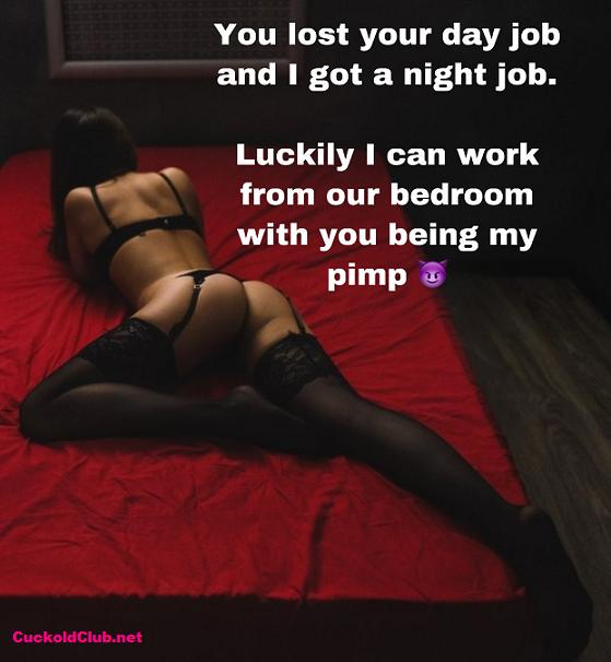 Pimping Hotwife as escort whore caption