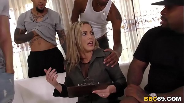 Cheating Married Mom Gangbanged by 5 Black Men