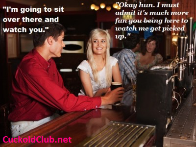 Watch your hotwife flirting with other men